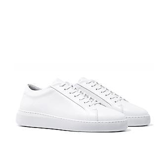 Uniform Standard Series 8 Triple White Leather Trainers