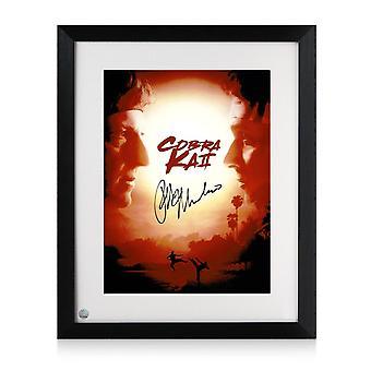 Ralph Macchio Signed Cobra Kai 2 Poster. Framed
