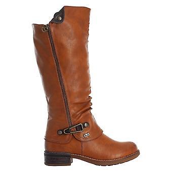 Rieker Brown Polvi Pituus Cowboy Inspiroitu boot soljen yksityiskohdilla
