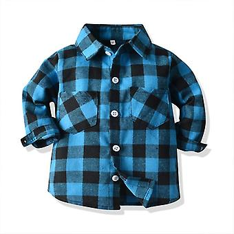 Baby Spring Shirt High-quality Plaid Shirts Newborn Tops Blouse