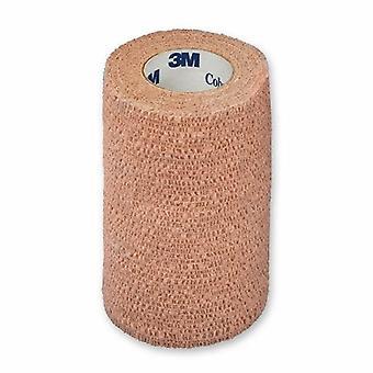 3M Kohäsive Bandage Coban 4 Zoll X 5 Yard Standard Kompression selbsthaften den Verschluss Tan Steril, Tan Fall von 18