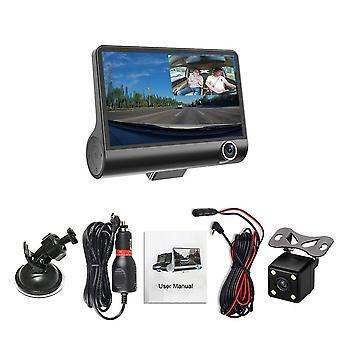 Three Lens Video Registrator Dash Driving Recorder