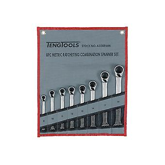 Teng Ratchet Combination Spanner Set 8 Piece Metric TEN6508RMM