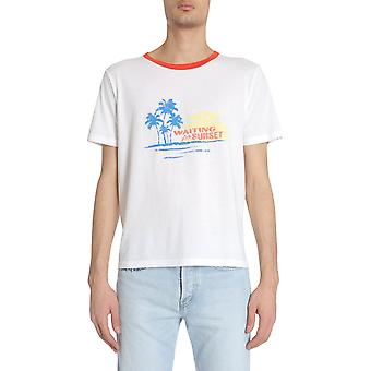 Saint Laurent 500640yb2my8486 Män's Vit Bomull T-shirt