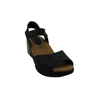 Bussola Women Nice Ankle Strap Wedge Sandals, Natalie Adjustment Low Heels