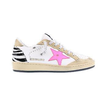 Golden Goose Ballstar Leather Flock Zebra Beige GWF00117F00018880207 shoe