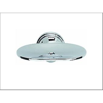 Croydex Soap Dish & Holder Glass & Chrome QM201941