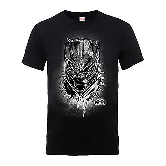 Marvel Black Panther Spray Headshot T-Shirt