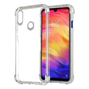 الاشياء المعتمدة® Xiaomi Redmi ملاحظة 7 برو حالة الوفير شفافة - واضح حالة تغطية سيليكون TPU المضادة للصدمة