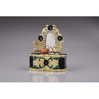 Black Vanity Table Trinket Box