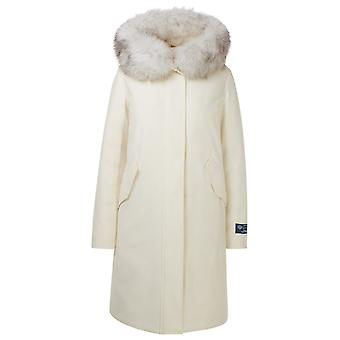 Woolrich Wwou0281frut17418254 Women's White Wool Coat