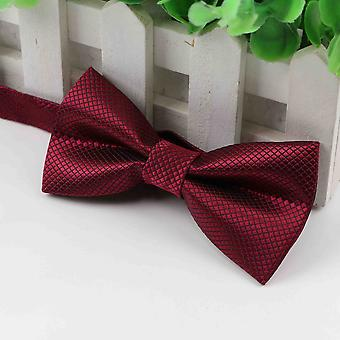 Children Polyester Bow Tie Classic Solid Color Butterfly Wedding Party Necktie