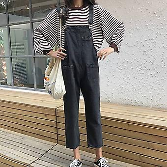 Jumpsuits Loose, Solid Simple Ankle-length Streetwear, Chic Womens Trendy