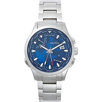 Nautica watch shanghai world time napshg003