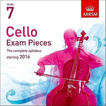 Cello-Prüfungsstücke 2016 2 CDs, ABRSM Klasse 7