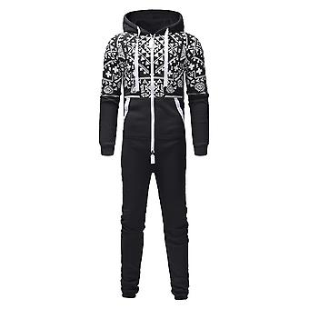 Men Jumpsuit Pyjama, Autumn, Winter, Casual Hoodie Zipper