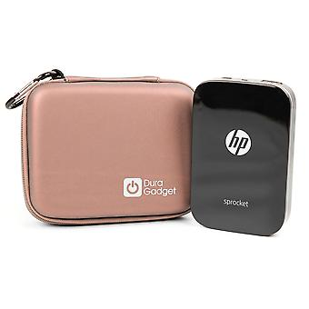 Duragadget rose gold eva case with soft lining - compatible with hp sprocket printer | hp sprocket 2