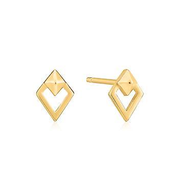 אניה Haie זהב מבריק ספייק יהלום עגילים צמודים E025-08G