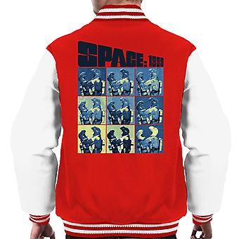 Space 1999 Helena Russell And John Koenig In Space Suits Men's Varsity Jacket