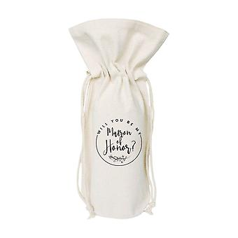 Matron Of Honor-cotton Canvas Wine Bag