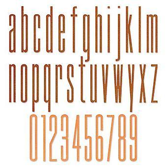 Sizzix Thinlits Die Set - 36pk Alphabet Stretch Lower & Numbers 665207 Tim Holtz
