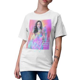 Mulher Maravilha Unisex Adulto 1984 Neons T-Shirt