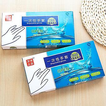 Pe Film Einweg Transparente Kunststoffhandschuhe zum Waschen von Geschirr
