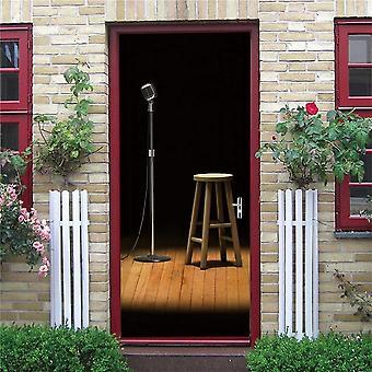 Singing Cabin Mural Self-adhesive Vinyl Decal Home Decor Door Poster