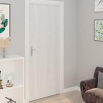 vidaXL الذاتي لاصق الباب رقائق 2 جهاز كمبيوتر شخصى. الخشب الأبيض 210 × 90 سم PVC