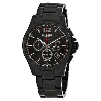 Longines Conquest V.H.P. Chronograph Black Carved Dial Men's Watch L37272566