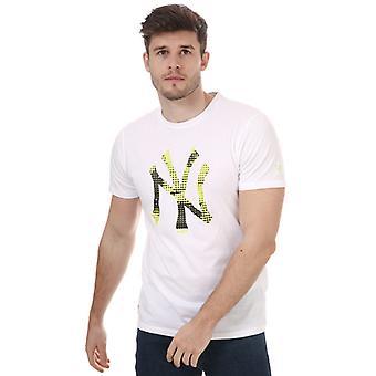 Menns New Era Team Logo New York Yankees T-skjorte i hvitt