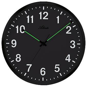 Horloge murale quartz analogique argent rose silencieux sans tic-tac brillant rond