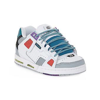 Globe sabre white grey multi skate shoes