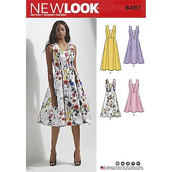 New Look Sewing Pattern 6497 Misses Dress Size 8-20 Euro 34-46