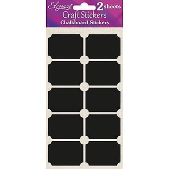 Oaktree UK Ltd - Chalkboard Stickers - Rectangle