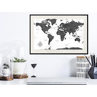 Juliste - Maailma mustavalkoisena-60x40
