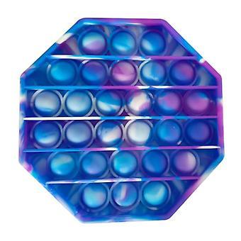 الاشياء المعتمدة® البوب ذلك - تململ مكافحة الإجهاد لعبة لعبة سيليكون المثمن الأزرق الأرجواني