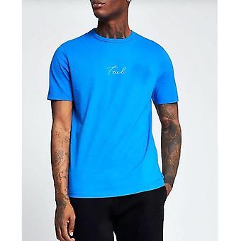 V2 Signatur blau T-shirt