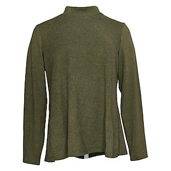 LOGOTIPO Por Lori Goldstein Women's Sweater & Tank Set Mock Neck Green A373326