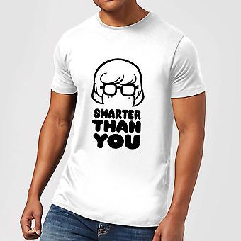 Scooby Doo Smarter Than You Merch Mens Short Sleeve T-Shirt Tee Top - White