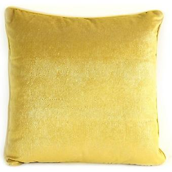pillow Carola 45 x 45 x 10 cm textile yellow