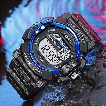 Men Sport High-end Silicone Strap Waterproof Digital Watch