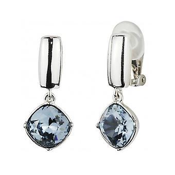 Traveller - Drop Clip Earring - Swarovski Crystal - Platinum Plated - 157451 - 950