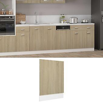 vidaXL dishwasher hood Sonoma oak 45x3x67 cm chipboard