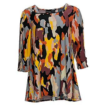 Women with Control Petite Top Square-Neck Tunic Orange A378266