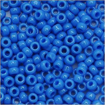 Toho Round Seed Beads 8/0 43D 'Opaque Cornflower' 8 Gram Tube