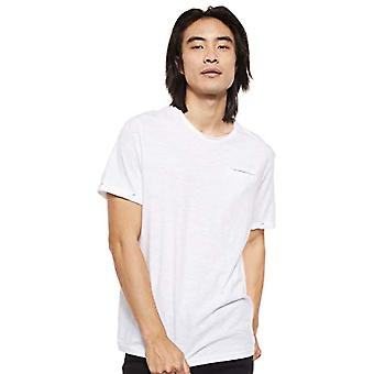 Tom Tailor Slub T-Shirt, 20000/White, S Men's