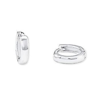 Amor Basic, sterling 925 rhodium silver hoop earrings