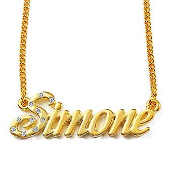 "L Simone - 18-karaats vergulde ketting, verstelbare ketting van 16""- 19"", in koninklijke verpakking"