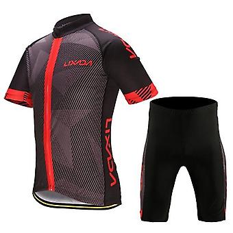 メンズサイクリング服セットクイックドライ半袖自転車ジャージーシャツトップ3Dクッションパッド入り乗馬ショートパンツパンツ